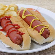 Bison Hot Dogs, Skinless - 6 inch
